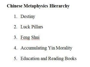 Chinese Metaphysics s